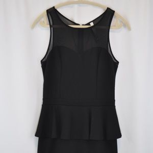 Kensie Black Peplum Dress - S